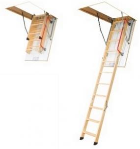 Folding section loft ladders FAKRO LWK KOMFORT 70x94x280 4 section