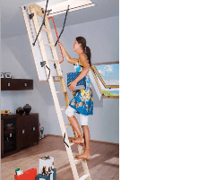 Folding section loft ladders FAKRO LWS Smart 60x120x280 3 section Stairs