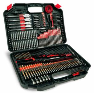 Sukimo ir gręžimo priedų rinkinys DEDRA 18A11S246, 246vnt. Tools boxes bags