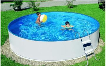 Skomplektyrovanyj круглый открытый бассейн BASIC 360 white, с оборудованием и аксессуарами Открытые бассейны