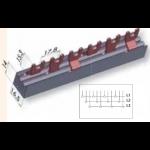 Šukos automatiams jungikliams., 3P, 12mod., U-formos, 12mm2, ETI 02921020 Šukos automatiniams jungikliams