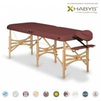 Sulankstomas masažo stalas HABYS Alba Soft Touch Burgundy Massage furniture