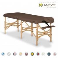 Sulankstomas masažo stalas HABYS Alba Soft Touch Dark Brown Masāžas mēbeles