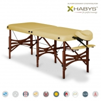 Sulankstomas masažo stalas HABYS Alba Soft Touch Gold Sand Masāžas mēbeles