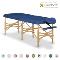 Sulankstomas masažo stalas HABYS Alba Vinyl Flex Navy Blue Masāžas mēbeles