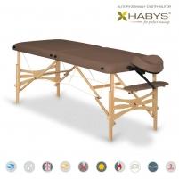 Sulankstomas masažo stalas HABYS Panda Soft Touch Dark Brown