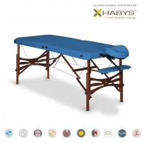 Sulankstomas masažo stalas HABYS Panda Vinyl Flex Blue