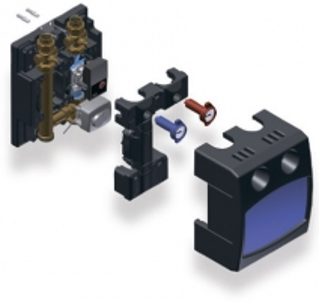 Sumaišymo mazgo modulis Watts PASM25 +RS25/6-3 (žem. temp.) Apkures sistēmu pārvaldību