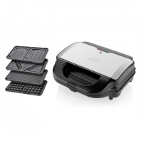 Sumuštinių keptuvas ETA 4 in 1 sandwich maker ETA315190010 Black/Stainless steel, 900 W, Number of plates 4, Number of sandwiches 2 Sandwich keptuvai