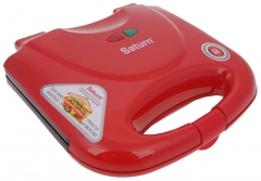 Sumuštinių keptuvas Sandwich maker Saturn ST-EC1082 RED| red Sandwich keptuvai
