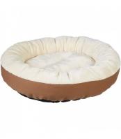 Šuns gultas, 50 x 50 x 20 cm. Kreminė, ruda spalvos UA-1023 Care for dogs