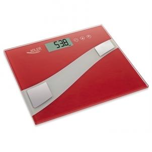 Svarstyklės Adler Maksimalus svoris (talpa) 150 kg, Tikslumas 100 g, Atminties funkcija, 1 naudotojas(-ai), Red