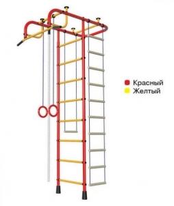 Švediška gimnastikos sienelė Pioner-A, raudona/geltona