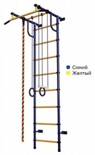 Švediška gimnastikos sienelė Pioner-C2H, mėlyna/geltona