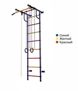 Švediška gimnastikos sienelė Pioner-C2H, mėlyna/raudona/geltona Dažas izmantot iekārtas