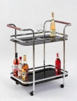 Coffee table - bar for the living room 7 (black glass)
