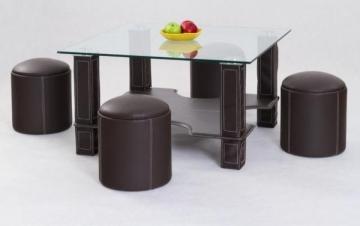 Small table Megan su pufais