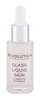 Švieninantis odos serumas Makeup Revolution London Glass Liquid 17ml Kaukės ir serumai veidui