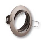 Šviestuvas 50W, įleidžiamas, apvalus, aliuminio lydinys, vartomas, juodas chromas, PORTO-K, GTV OP-PRAN5-21