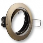 Šviestuvas 50W, įleidžiamas, apvalus, aliuminio lydinys, vartomas, sendintas auksas, PORTO-K, GTV OP-PRAN5-30 Halogeniniai šviestuvai
