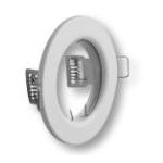 Šviestuvas 50W, įleidžiamas, apvalus, baltas, PARMA, GTV OP-PAST1-10 Halogēnu lampas