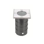 Šviestuvas GU10, 50W, IP67, IK10, įleidžiamas, į grindinį, Northcliffe Atlas 1GU10 Q72 SQUARE Special purpose lamps