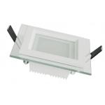 Šviestuvas LED 12W, 85-265V CCD, įleidžiamas, kvadratinis, baltas, matinis, 1080lm, 4000-4500K, Lumenix 8034