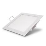 Šviestuvas LED 18W, IP20, 230V, įleidžiamas, kvadratinis, baltas, matinis, 1440lm, 4500K, d224x25mm, PTNC 2453