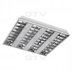 Šviestuvas LED 50W, IP20, įleidžiamas, 5500lm, 4000K, 4x60cm, pilkas, AC220-240V, CELTA, GTV LD-CE4060W-50S
