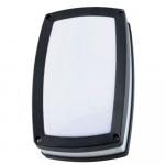 Šviestuvas sodo E27 23W, IP54, AC 230V, tvirt. prie sienos, juodas, su baltu matiniu stiklu, LAMPRIX LP-14-053