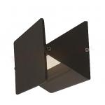 Šviestuvas sodo LED, 8W, 4000K, IP54, AC 230V, 380lm, tvirt. prie sienos, juodas, su stiklu, LAMPRIX LP-14-017