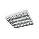 Šviestuvas T8/G13, 4x18W, EVG (elektroninis), IP20, paviršinis, parabolinis reflektorius, GTV OS-RE418N-01