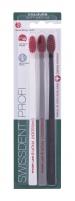 Swissdent Profi Colours Soft Medium Trio Cosmetic 3vnt. (White, Grey, Black) Dantų šepetėliai
