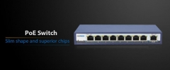 SWITCH - tinklo komutatorius HORED Switch 9 ports 10/100BaseT (8xPoE, 96W) 802.3at/af Each port up to 30W