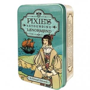 Taro kortos Pixie Astounding Lenormand skardinėjė dėžutėje