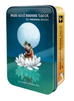 Taro kortos Sun And Moon skardinėje dėžutėje