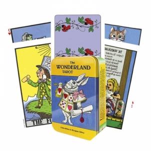 Taro kortos The Wonderland skardinėje dėžutėje