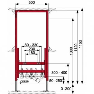Tece universalus bidė modulis, 112cm Nuleidimo sistemos