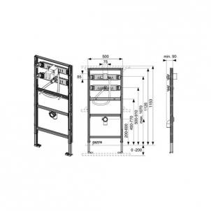 Tece universalus pisuaro modulis, 112cm Nuleidimo sistemos