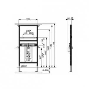 Tece universalus praustuvo modulis, 112cm Nuleidimo sistemos