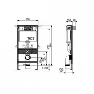 Tece universalus wc modulis, 98cm Nuleidimo sistemos