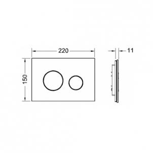 TECEloop stiklinis nuleidimo mygtukas, juodi mygtukai Potinkinės sistemos