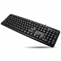 Techly Klaviatūra USB 104 mygrukai, US, juoda Klaviatūros