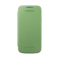 Telefono dėklas Flip cover for S4 i9500 yellow green