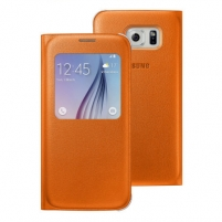 Telefono dėklas Galaxy S6 S View Cover (Fabric) Orange