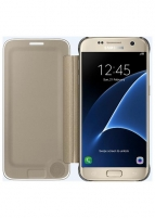Telefono dėklas Samsung Clear View Cover for Galaxy S7 Edge G935 (Gold)