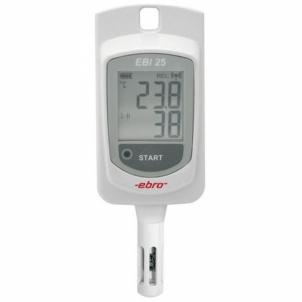 Temperatūros matuoklis ebro EBI 25-TH Wireless , humidity Data Logger Duomenų kaupiklių matuokliai