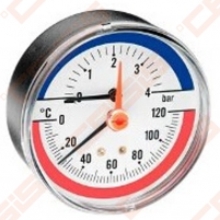 Termomanometras TMAX 4 bar 1/2, horizontalus Technical thermometers