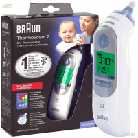Termometras Braun ThermoScan® 7 Age Precision Ear Thermometer IRT6520 Memory function, Measurement time 5 s, White Ķermeņa termometri