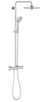 Termostatinė dušo sistema Euphoria 260 (stac. galva Ø260, alkūnė 450 mm, rankinis dušas Euphoria 110), chromas
